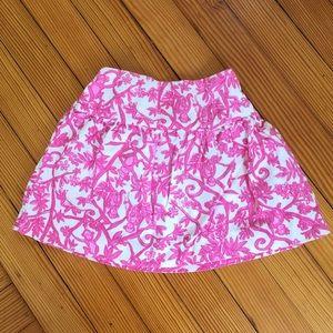  Lilly Pulitzer Corduroy Monkey Skirt Size 5